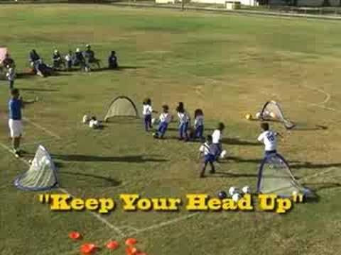Kids Soccer Drills - How to teach Soccer Dribbling and the Go Score Practice Game. www.soccerhelp.com/Kids_Kid_Soccer_Drill.shtml for more. Copyright SoccerHelp.com