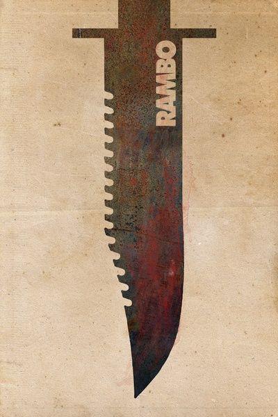 Minimalist Movie Poster: Rambo