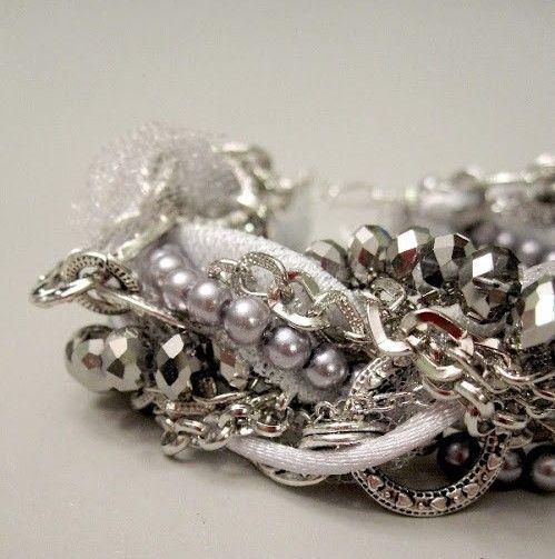Простые браслеты из лент и бусин - Украшения своими руками