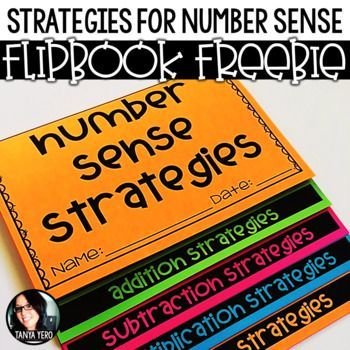 Check out this FREE math fluency flip book that's perfectly suited for your 4th, 5th, and 6th grade students. Give your kids different strategies to build their number sense. This is a great way to review addition, subtraction, multiplication, and division. Add it to your whole class lesson plan or use for math centers, small groups, or whole class teaching. {fourth, fifth, sixth graders, freebie, upper elementary}