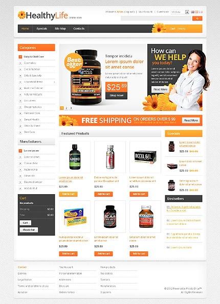 Template E-Commerce Clicboutic, idéal pour la vente en ligne de compléments et vitamines