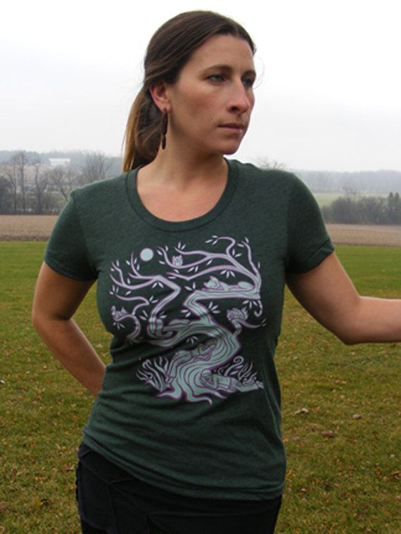 Rebel Tree Forest Heather American Apparel Poly Cotton Women's T Shirt Ask a Question    $28.00 CAD