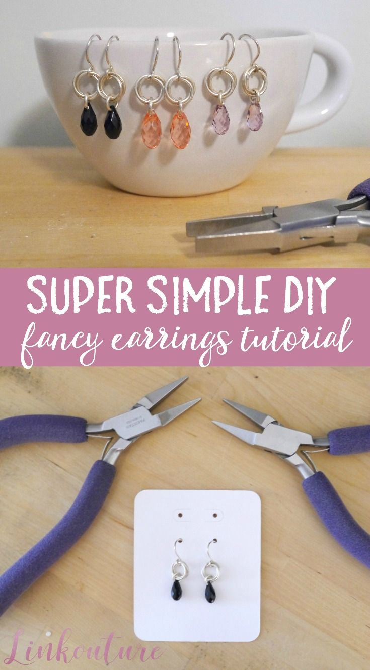 Learn How To Make Your Own Super Simple Diy Fancy Earrings