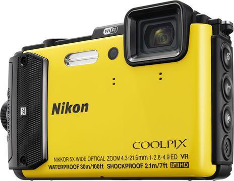 Nikon Coolpix AW130 Fotokamera, 16MP, 5FPS, GPS, WLAN, bis zu 30m wasserdicht #gelb #Kamera #Foto #Unterwasser #Digital #digitec