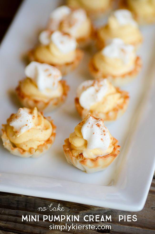 Impossibly Easy Mini Pumpkin Cream Pies | Recipe ...