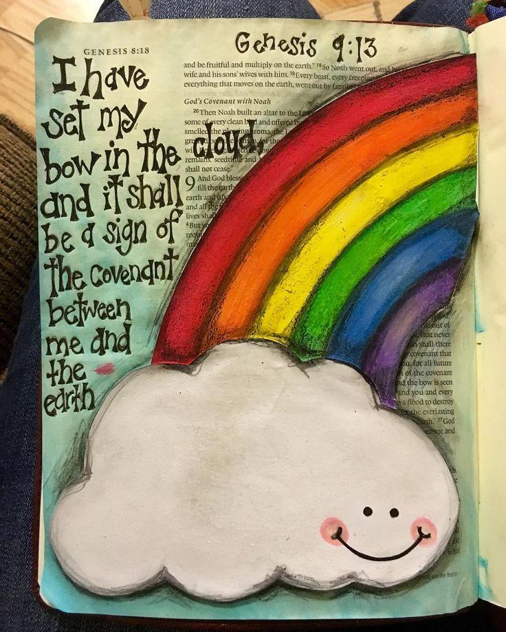 Cute rainbow and cloud