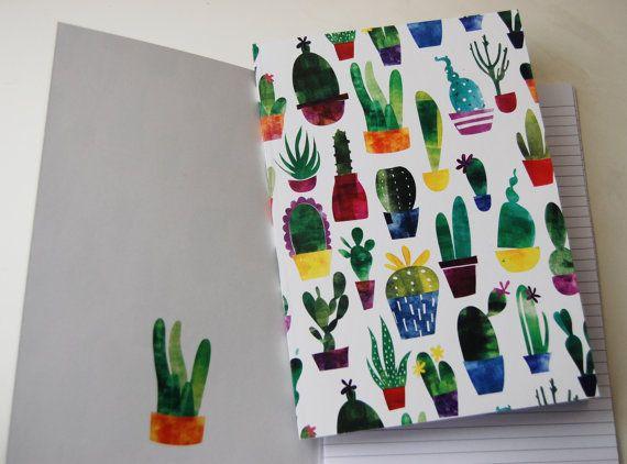 Cacti Notebook by jennaleealldread on Etsy