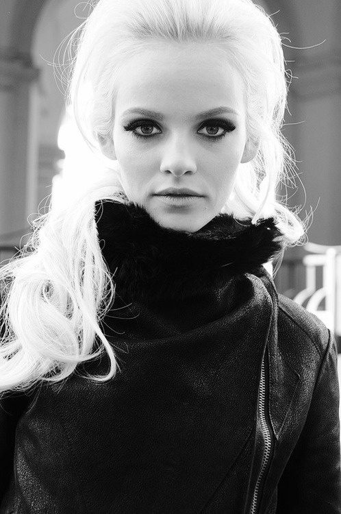 Beautiful Fashion Model  Ginta Lapina   black and white