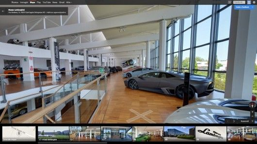 Leveraging Google Street View technology, Lamborghini has launched a 360-degree tour of its two-story museum. Computer and mobile device users can now experience 50 years of Lamborghini from the comfort of home.
