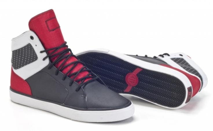 Radii Kicks Store - Radii Simple Black/Red/White Men's High Top Sneaker, $79.95 (http://www.radiikicks.com/radii-simple-black-red-white-mens-high-top-sneaker/)