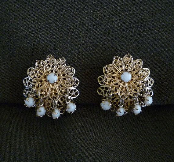 Hey, I found this really awesome Etsy listing at https://www.etsy.com/listing/233597581/1950s-filigree-earrings-floral-filigree