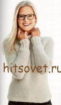 Пуловер летучая мышь спицами http://hitsovet.ru/pulover-letuchaya-mysh-spicami/