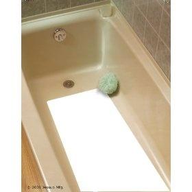 16` X 34` White Adhesive Vinyl Anti Slip Non Skid Safety Bath Mat $18.00