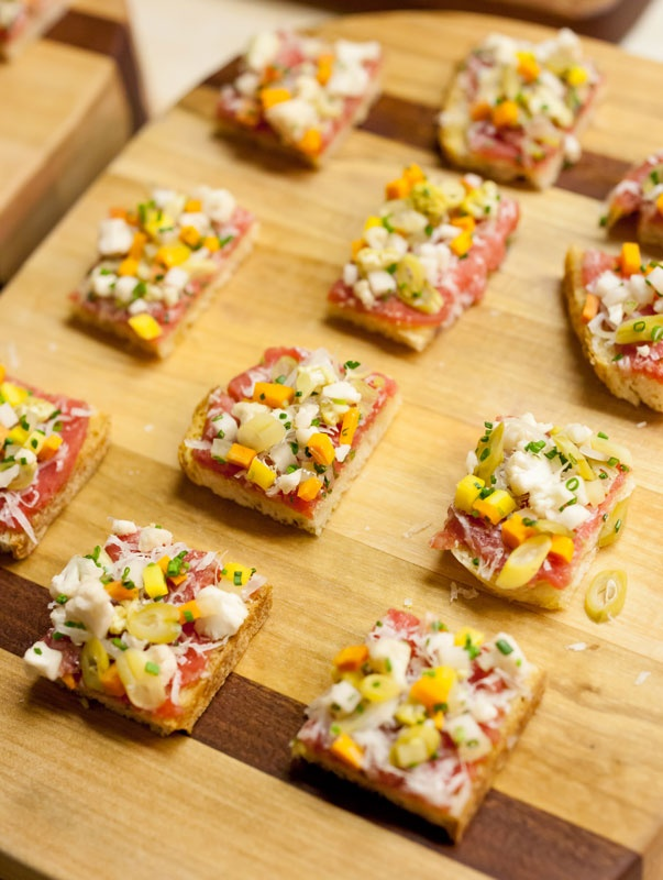Beef carpaccio with pickled summer vegetables and sourdough - July 31 (Photo by David Chow)