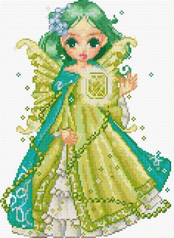 Cross Stitch | Green Fairy xstitch Chart | Design