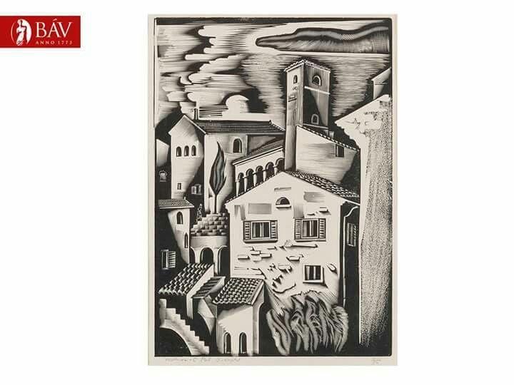 Molnár C. Pál: Perugia Fametszet,papir