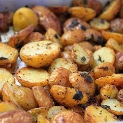 Crispy Roasted Potatoes with Lemon, Garlic and Sage