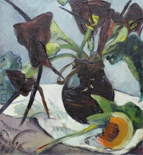 Irma Stern (South African: 1894 – 1966) | Black Lilies - 1941