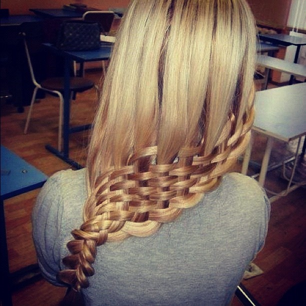 How To Make A Basket Weave Effect : Best woven effects images on braids basket
