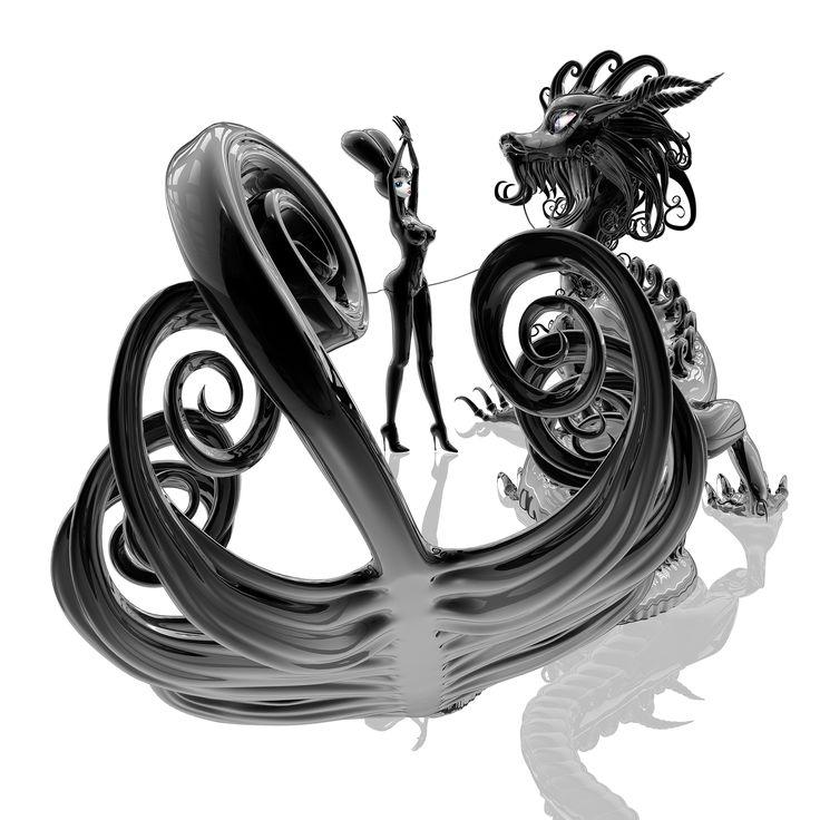 Hye Rim Lee 'Dragon's Tail, black'