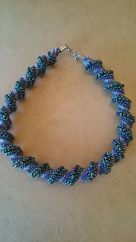 Necklace with seed beads
