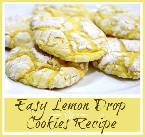Easy Lemon Cookies recipe!  (cakebox cookies) #cookies #lemon #recipe