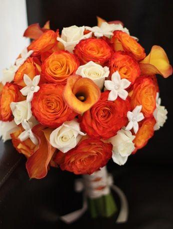 orange bridal bouquet ideas | Orange Rose Wedding Ideas and Inspirations | Budget Brides Guide : A ...