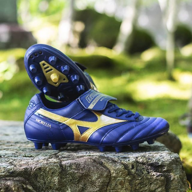 pretty nice b0b1e 7e932 Another leather beauty fromMizunoThe blue and gold Morelia ...