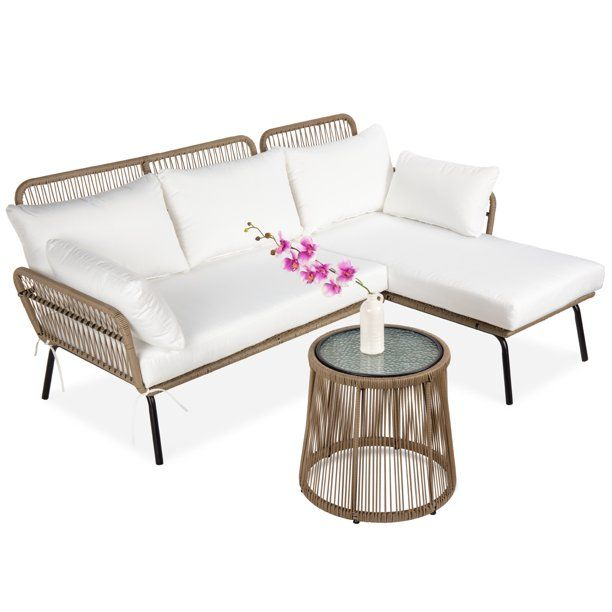 Pin By Lauryn Esposito On For The Home In 2021 Sectional Patio Furniture Sofa Set L Shape Sofa Set