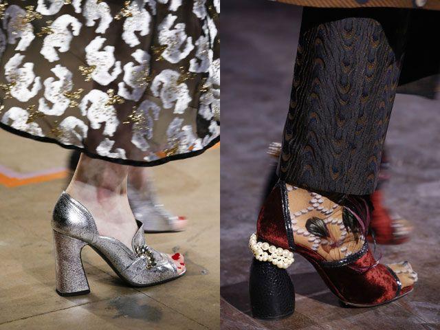 Модная обувь осень-зима 2016-2017 с украшениями