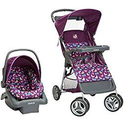 Lift and Stroll Travel System, Butterfly Twirl, Purple Multicolor by Cosco