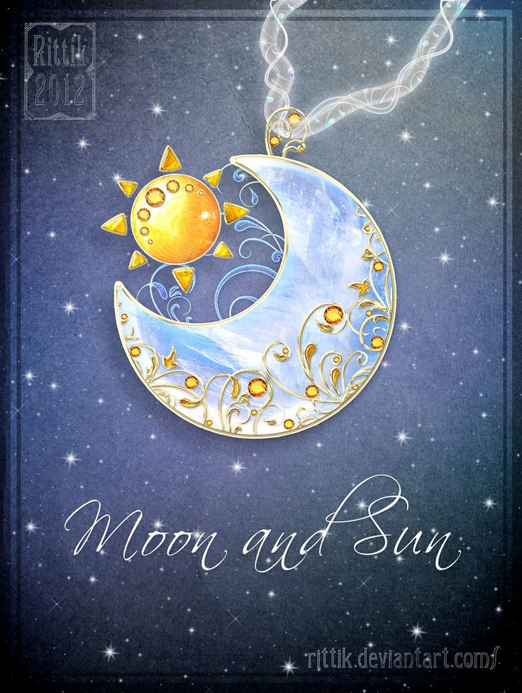 Amulet - Moon and Sun by Rittik.deviantart.com on @deviantART