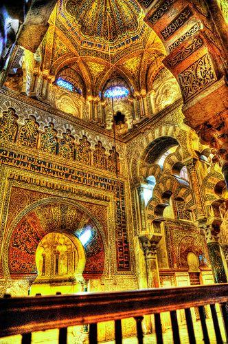 Mihrab y Macsura de la Mezquita.  Mezquita-Catedral de Córdoba.  Spain!
