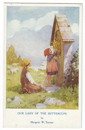 Margaret W. Tarrant (1888 -1959, English) vintage postcard