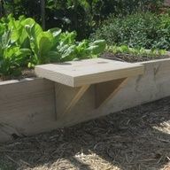 Moveable seat for raised gardening beds...a def must!