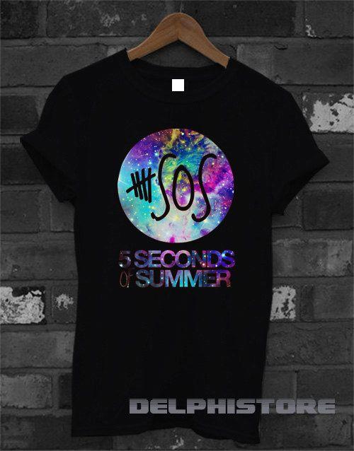 5sos shirt 5 second of summer galaxy logo shirt 5 by DelphiStore
