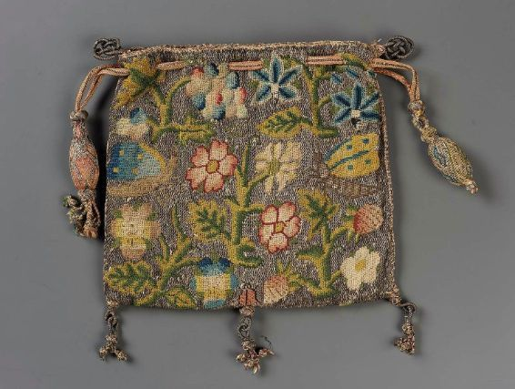 Drawstring bag English, late 16th–early 17th century