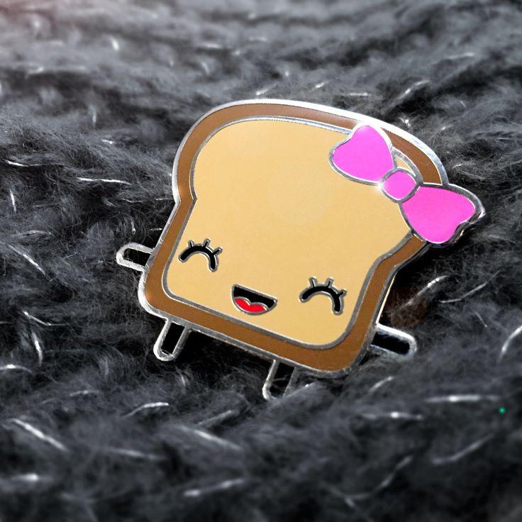 FREE SHIPPING WORLDWIDE!-Mrs. Little Bread Slice Enamel Pin- Lapel kawaii pin - Enamel toast pin - lapel pin - kawaii badge - enamel kawaii de ChampuChinito en Etsy https://www.etsy.com/es/listing/266419977/free-shipping-worldwide-mrs-little-bread