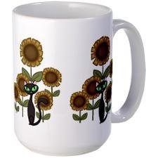 I love coffe mugs: Large Mugs, Black Cats, Coffee, Cats Large