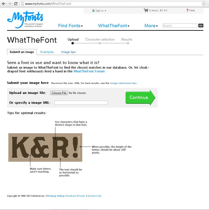 Jurnal Belajar - WhatTheFont : fitur untuk mengetahui jenis font