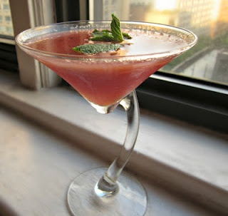 Watermelon Martini--- Mindori, watermelon vodka, cran, splash oj , splash lemonade: