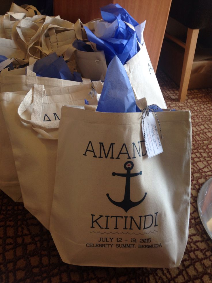 Anchor Welcome Bags
