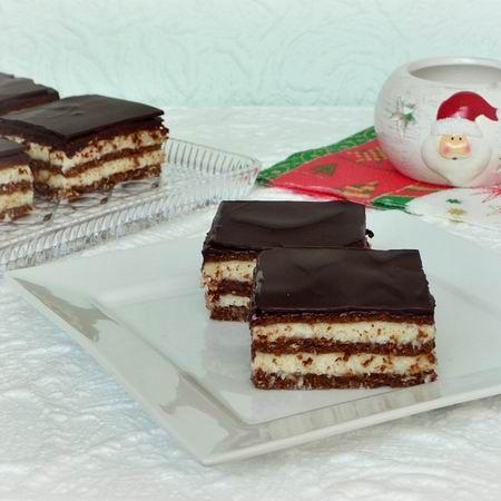 Kókuszkrémes-kekszes süti