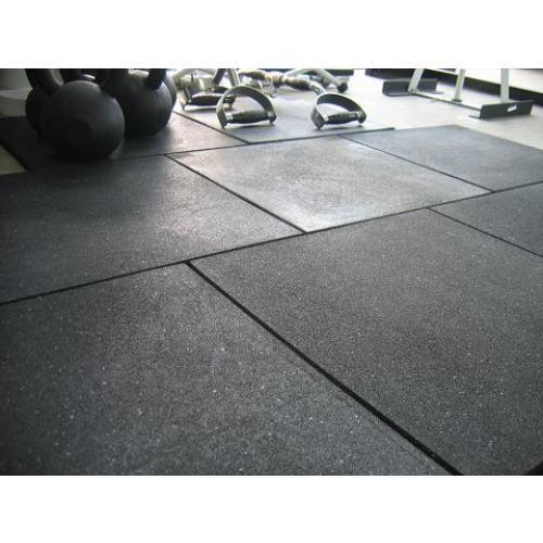Black Rubber Gym Flooring
