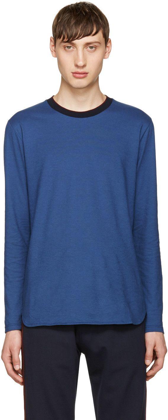 GIULIANO FUJIWARA BLUE COTTON T-SHIRT. #giulianofujiwara #cloth #t-shirt