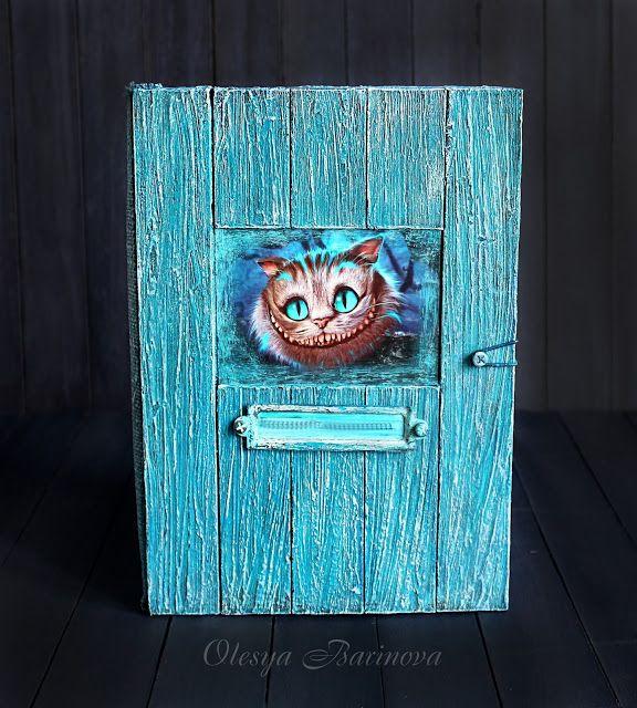 Блокнот с чеширским котом