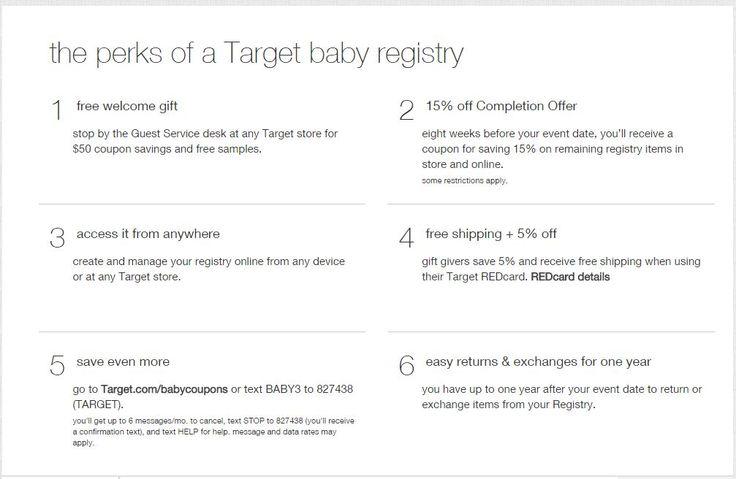 Benefits of Target Baby Registry | Target baby registry ...