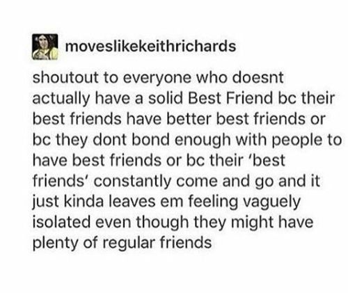 Yep. I call it my Michael Mell because he and Jeremy are so close and amazing and they are always there for each other but I don't have a friend like that. I'm just the loser with out any friends