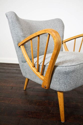 RETRO 50s COCKTAIL CHAIR ARMCHAIR FABRIC VINTAGE 60s MID CENTURY | eBay