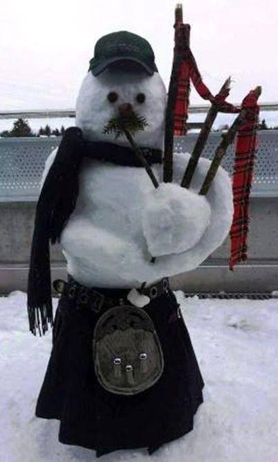 Scottish snowman.                                                                                                                                                                                 More